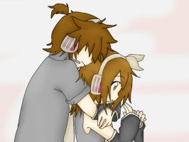 Tamiko y Takeshi Hug by RinxSongs