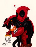 Deadpool and Shadow by RAWN89
