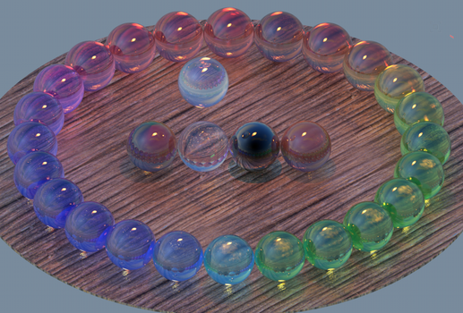 24 hues of optical glass w/ dielectric reflection by crag-dolomite