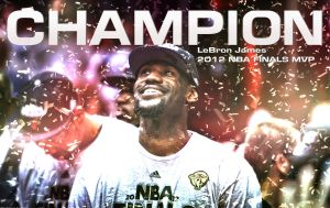 LeBron James 2012 NBA Finals MVP Wallpaper by rhurst