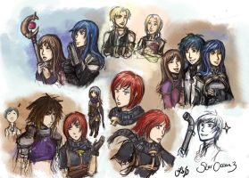 Star Ocean 3 sketches by Jassikorandoms