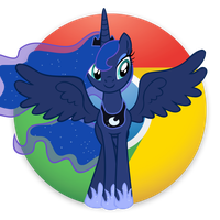 Google Chrome Icon with Luna by Pony4444