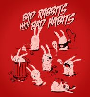 Bad Rabbits with Bad Habits by mathiole