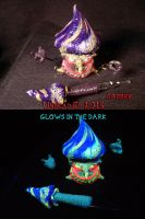 Purple Mushroom Man Holder and Mushroom Dabber Set by Undead-Art