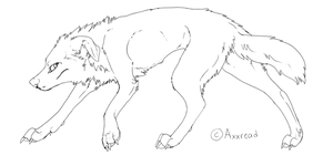 Free dog lineart 3 by Axxread