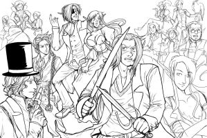 WIP2: 1st Anniversary Poster by DeannaEchanique