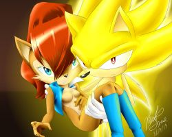 Super Sonic and Sally by sonallyfan