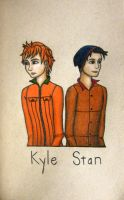 Kyle and Stan by whatonearth