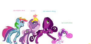 G3 ponies in G4 style by PonyPonyPony22
