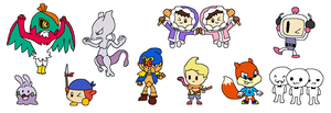 Characters for SSB4 by JoltikLover