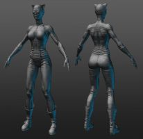 Catwoman Zbrush model by RedHeretic