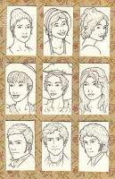 Austen Character Portraits by whisperelmwood