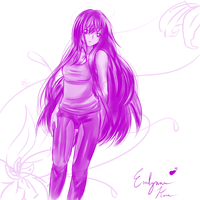 Purple Evalynn (one color challenge) by Jremy-Alexandria