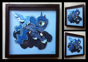 Commission:  Luna and her Phoenix by The-Paper-Pony