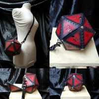 Leather D20 Purse by phx647