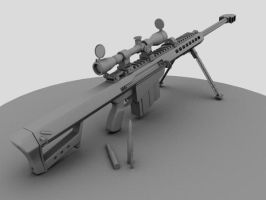 Barrett M107 Anti-Mat. Rifle by 3DFunkee