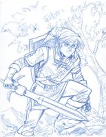 Legend of Zelda: Link sketch by thejeremydale