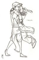 I love you too. -Makorra by blindbandit5
