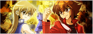 Judai and Asuka Banner by roninator001