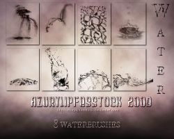 Brushes2009-water by AzurylipfesStock