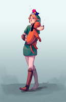 Link and Duck Hunt by BloodnSpice