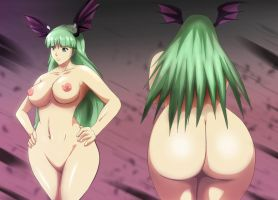 Darkstalkers Morrigan Aensland sexy nude ass by Mr123GOKU123