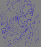 Be wary of the caverns you venture thought (WIP) by Kona-Ann