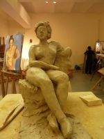Seated Figure, front by ThroughLenasEyes
