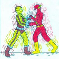 The Flash vs The Shocker by Jose-Ramiro