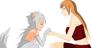 Collab-Wolfy and Foxy by ShinanaEvangelian