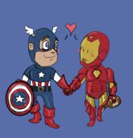 Cap and Iron Man by hep-kitten