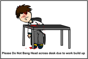 work related messege by Meatball-man
