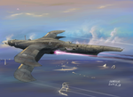 Kingdom of Fow's aerial destroyer Vizelve by Waffle0708