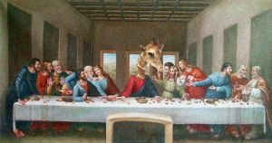 Giraffe Supper by garrett-btm