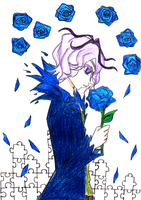 The Owner Of The Blue Roses by Korhann