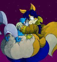 Sly and Fat Carmelita by Virus-20
