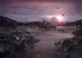 Stronghold on the Lake by Nele-Diel