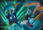 Narwals and Nyan Cats! by bluexco