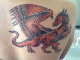 Dragon tattoo coloured by Draculanis