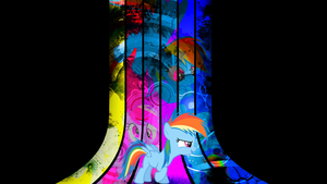 ~ Rainbow Dash Wallpaper without text ~ by Fluffehponys
