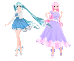 TDA Late Spring Miku and Luka {DL} by HarukaSakurai