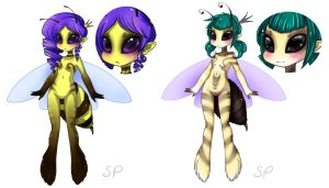 Bee girls by SquidPuke