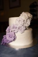 Ombre Roses cake by whisk-us-away