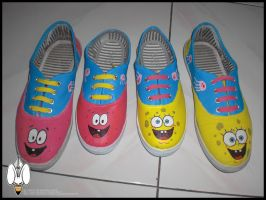 Spongebob and Patrick shoes customize by Elison182