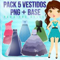 +PACK VESTIDOS PARA DOLL by JoyJoyJoChi