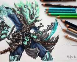 League of Legends fanart - Thresh by MsLydix
