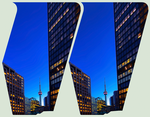 CN Tower of Toronto 3D ::: Cross-Eye Stereoscopy by zour