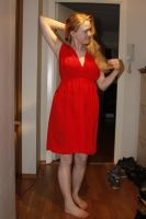 Red dress part two by TinaMalen