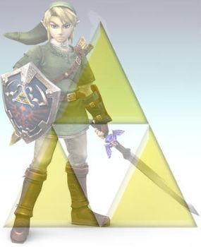 link with triforce by maxcat192