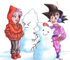Snow Portraits by DBZ-Obsessed